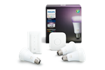 929001257361 - Philips Hue Color 3 x E27 Pærer Starter Kit - Richer Colors + Switch