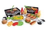 7000 - Dantoy MY LITTLE BBQ DELUXE 79 PCS. IN BROWN BOX