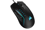 CH-9302211-EU - Corsair Gaming GLAIVE RGB PRO - Black - Gaming mus - Optisk - 7 - Svart med RGB-lys