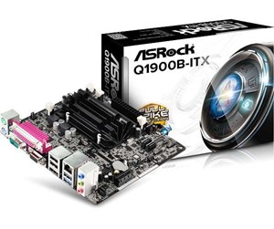 Q1900B-ITX - ASRock Q1900B-ITX Hovedkort - Intel Bay Trail-D - Intel Onboard CPU socket - DDR3 RAM - Mini-ITX