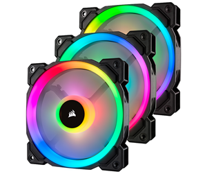 CO-9050072-WW - Corsair LL120 RGB Dual Light 3-pack + Node PRO - Kabinettvifte - 120 mm - 24 dBA