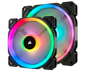 Corsair LL140 RGB Dual Light 2-pack + Node PRO - Kabinettvifte - 140 mm - 25 dBA