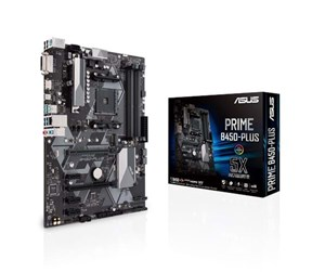 ASUS PRIME B450-PLUS Hovedkort - AMD B450 - AMD AM4 socket - DDR4 RAM - ATX