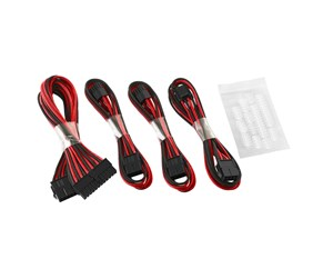 CM-CAB-BKIT-D62KKR-R - CableMod Basic ModFlex Extension Kit - Black/Red
