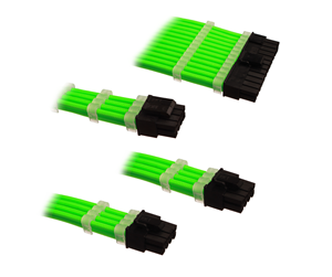 DUTZO Sleeved Power Extension Cable Kit - Green