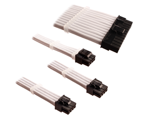 DUTZO Sleeved Power Extension Cable Kit - White