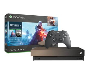 FMP-00031 - Microsoft Xbox One X - 1TB - Gold Rush Special Edition (Battlefield V Deluxe Edition)