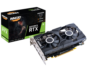 N20602-06D6-1710VA23 - Inno3D GeForce RTX 2060 Twin X2 - 6GB GDDR6 RAM - Grafikkort