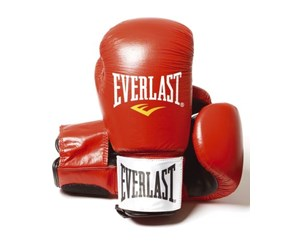 5050787202185 - Everlast 14oz Red - Leather Boxing Gloves