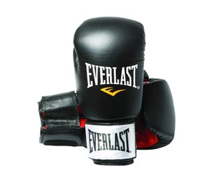 5050787202277 - Everlast 12oz Black/Red - Leather Boxing Gloves