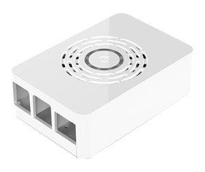ASM-1900143-11 - Raspberry Pi 4 case with power button - White - Kabinett - Raspberry Pi - Hvit
