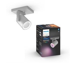 915005762301 - Philips Hue Argenta Single Spot - Aluminium