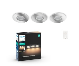 915005826201 - Philips Hue Adore Bathroom Recessed 3x5W Spots - Chrome
