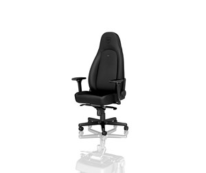NBL-ICN-PU-BED - noblechairs ICON Black - Black Edition Gamingstol - Svart - PU-lær - Opptil 150 kg