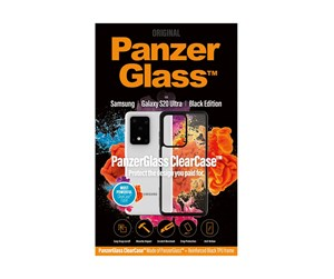 PANZER0240 - PanzerGlass Samsung Galaxy S20 Ultra ClearCase with Black TPU Cover