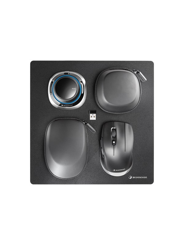 Bilde av 3dconnexion Spacemouse Wireless Kit - 3d Mus - 2 - Svart