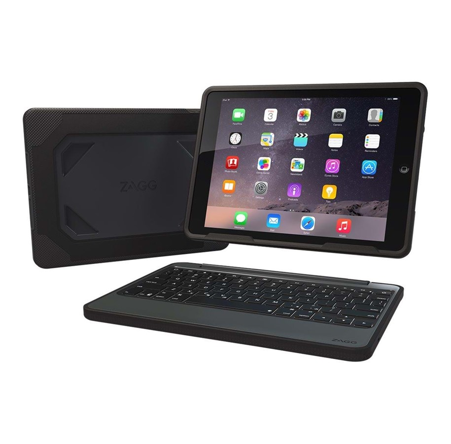 Zagg Rugged Book Tastatur & Foliosett Svart
