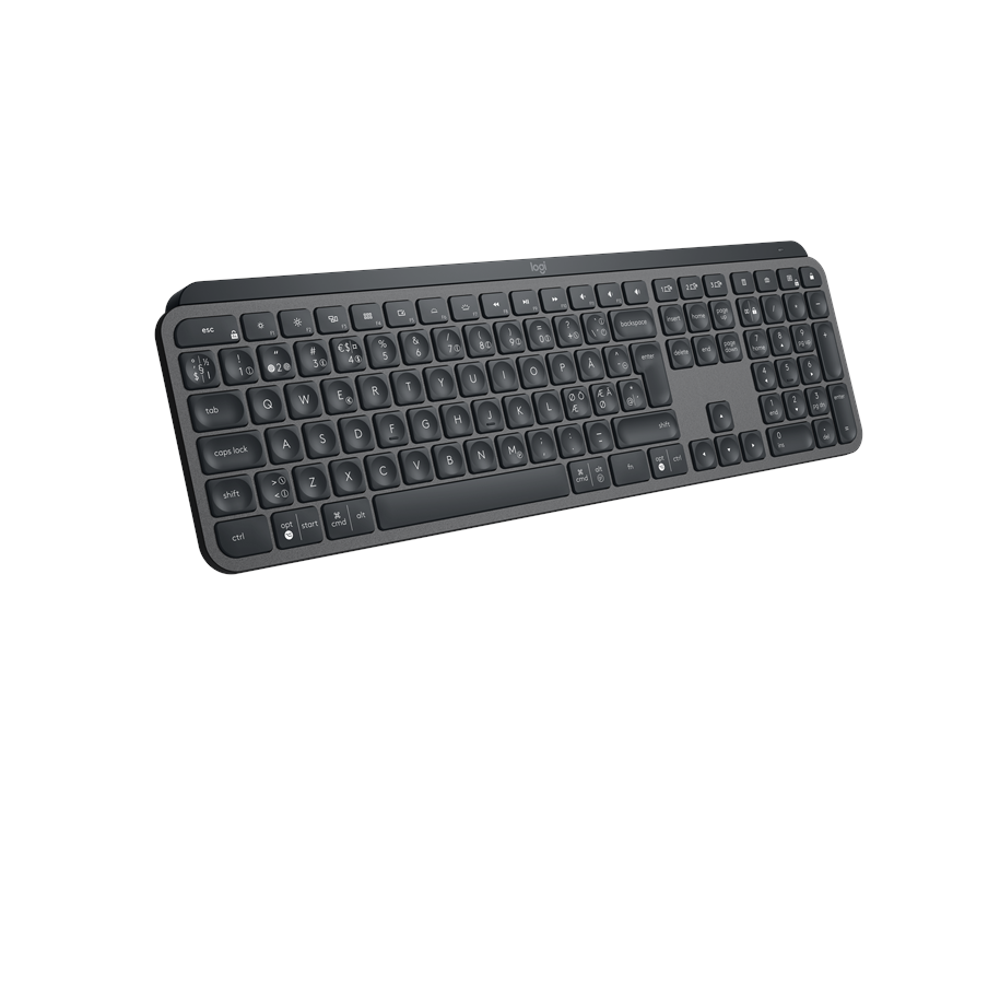 Logitech MX Keys Advanced Wireless Illuminated Keyboard Graphite ND Tastatur Nordisk Svart