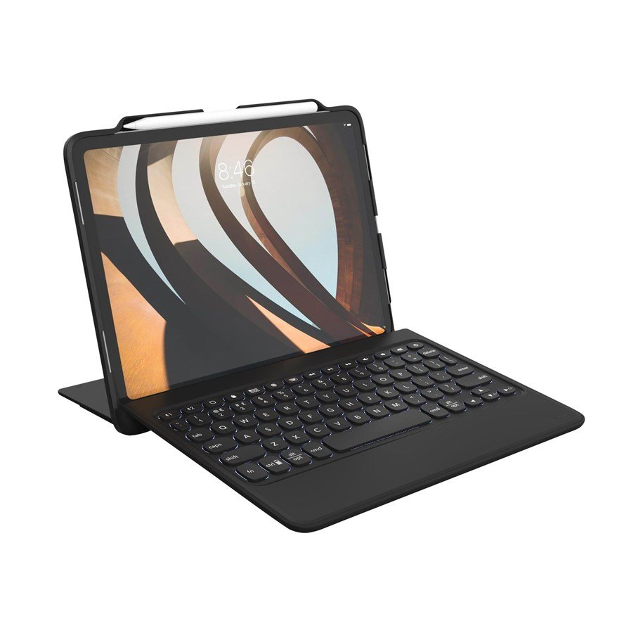 Zagg Rugged Book go Tastatur & Foliosett Svart